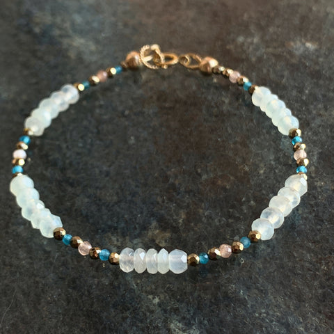Peace Bloom and Birth Bracelet