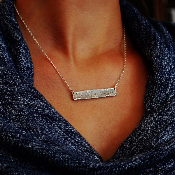 Live in this moment necklace