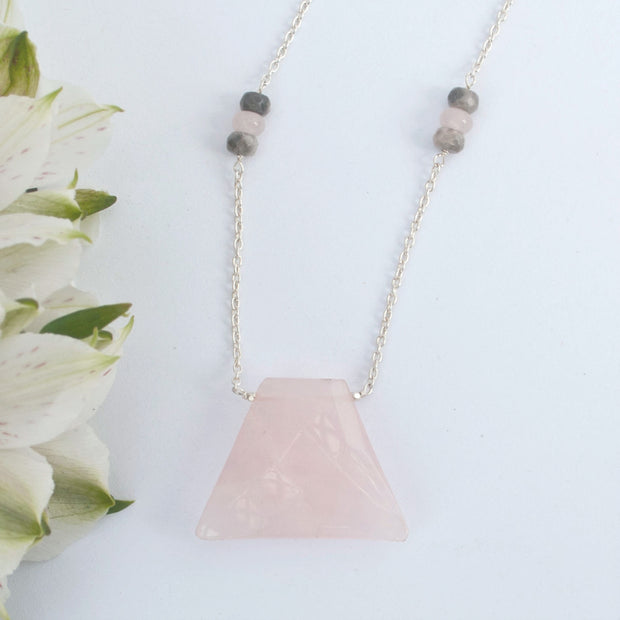 Blush Rose Quartz Necklace