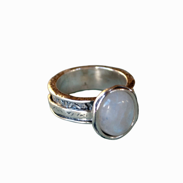Moonstone Spinner Ring
