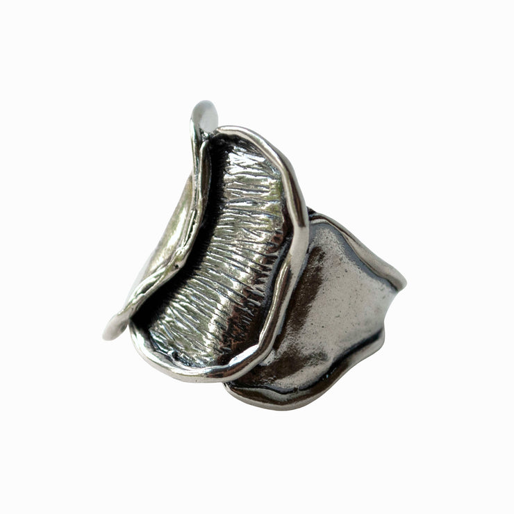 Waves of Silver Ring