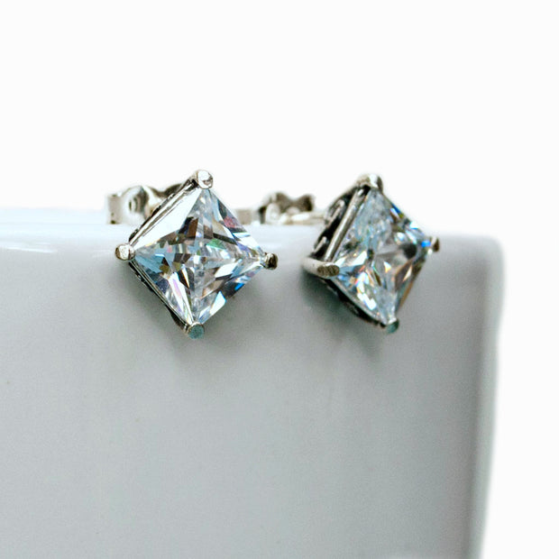 Brilliant CZ Stud Earrings