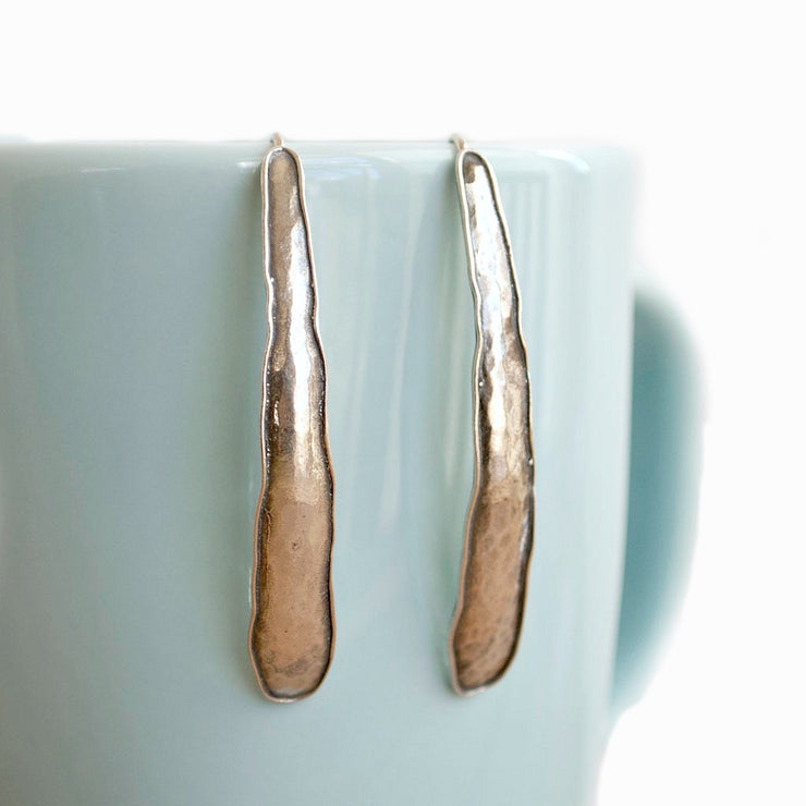 Elongated Sterling Earrings