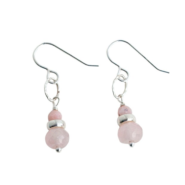 Blush Rose Quartz Earrings