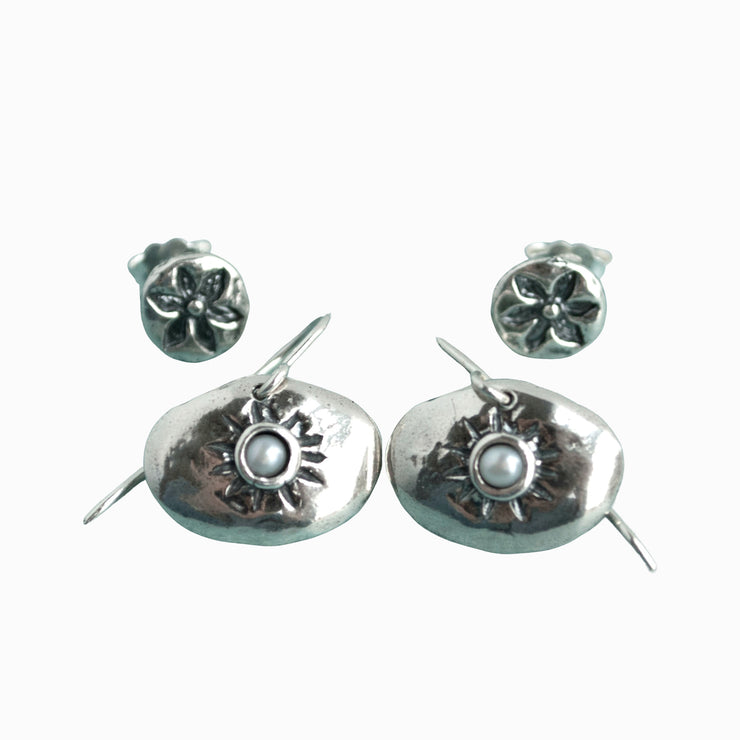 Duo Sunburst Earring Set