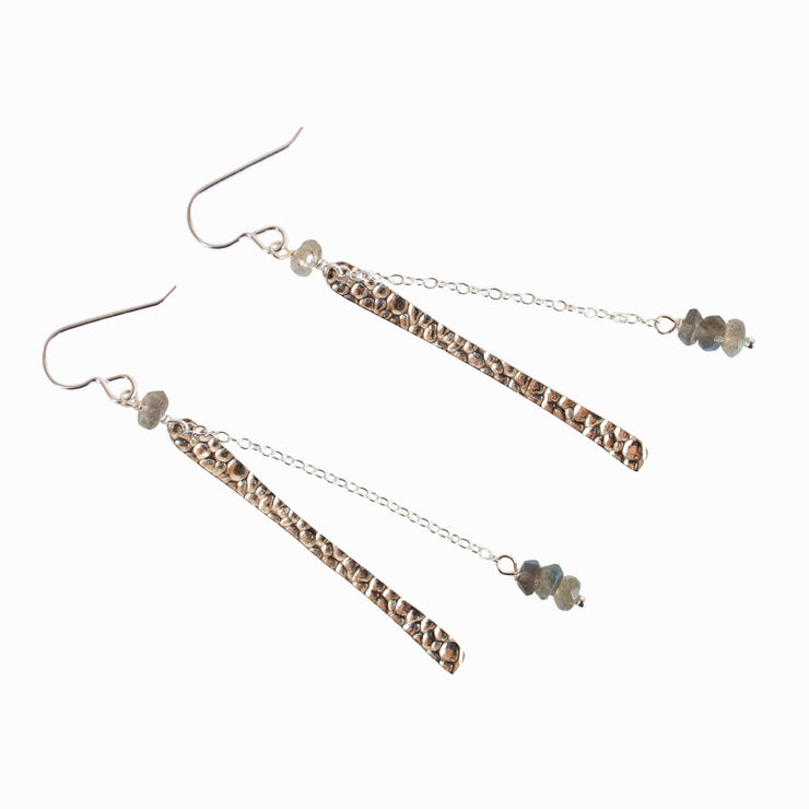 Labradorite Falls Earrings