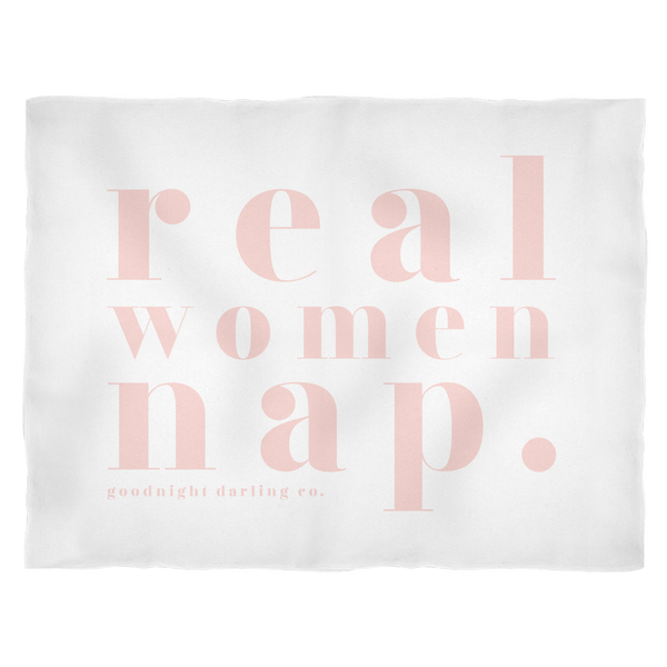 real women nap. fleece blanket