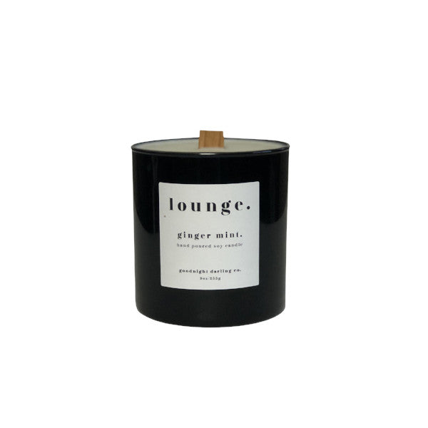 ginger mint. wooden wick candle