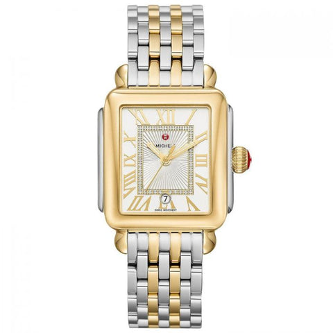 Michele Lexi Diamond Two Tone Stainless Steel Watch