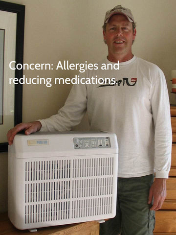 Catalytic PURE AIR purifier for animal allergies and pollen