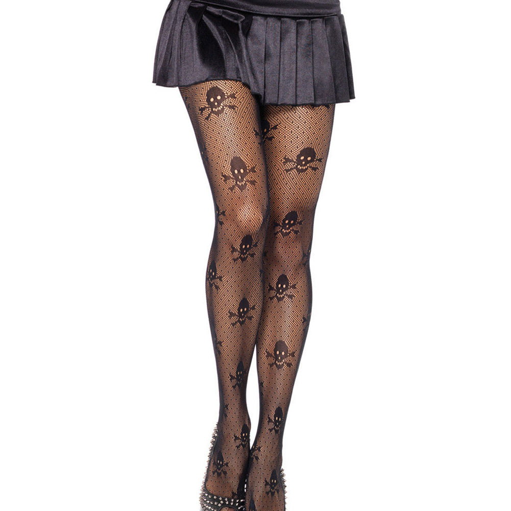 6928eb4c60f9cf Sexy Fishnet Tights Skull Stretch Pantyhose Stockings - Skull Obsessed