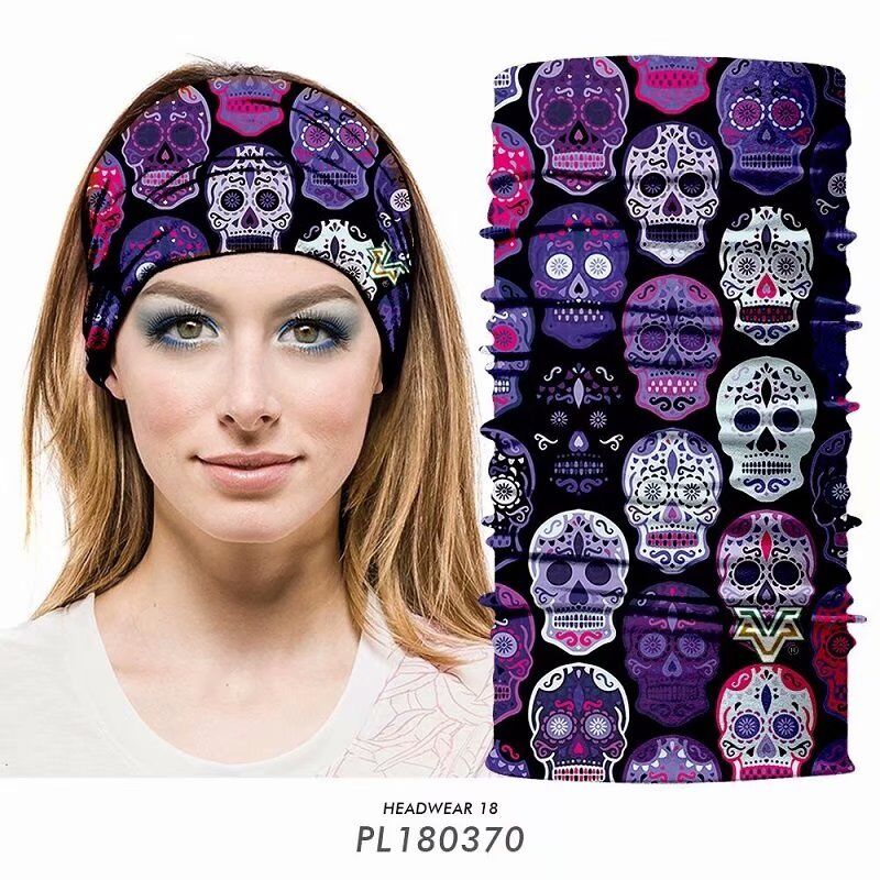 Skull Tubular Head Wear Bandana - Skull Obsessed 7a4cd72c97e