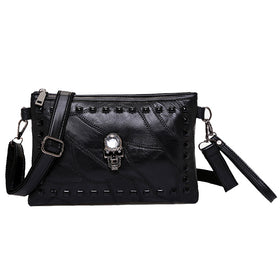 f6bb513e2ce7d2 Skull Rivet Shoulder Crossbody Bag