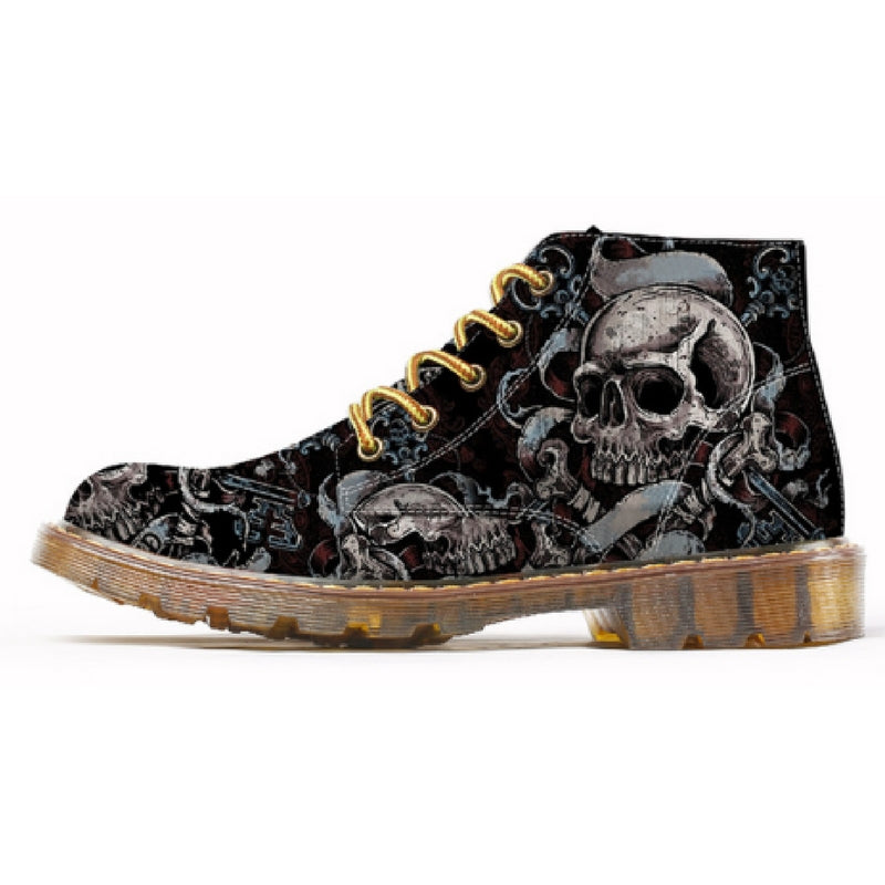 Fashion Mens Skull Boots