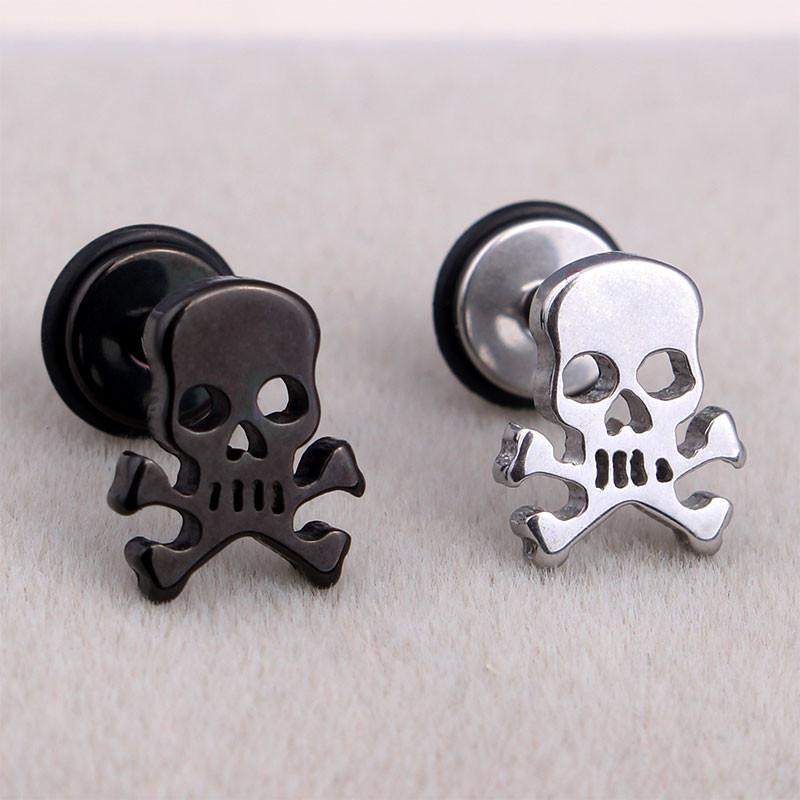 steel cubic stud black zirconia stainless round p zirconium earrings studs
