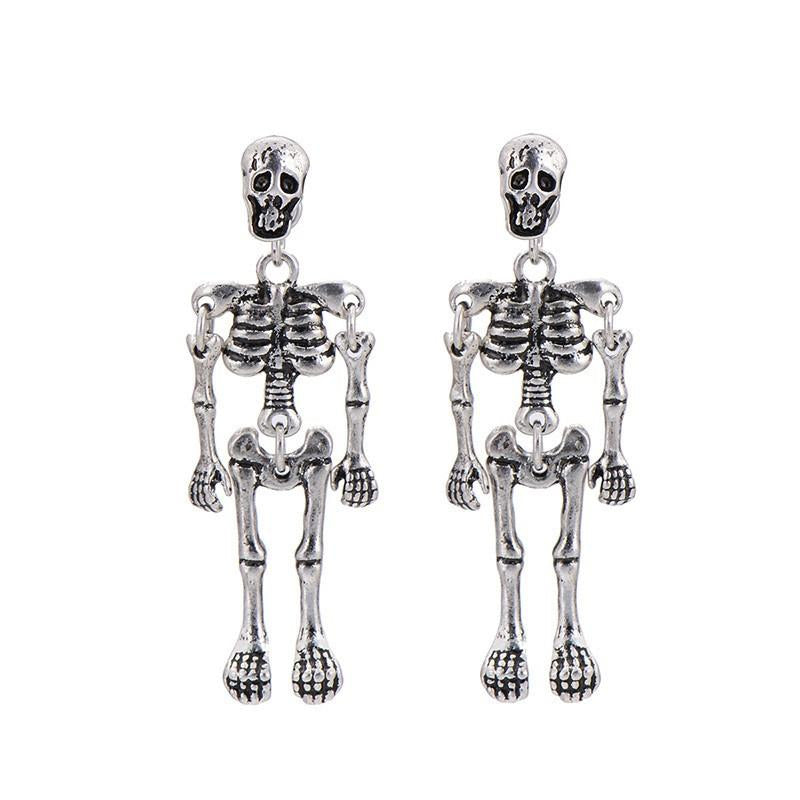 min skull clear product accessories earrings womens stud rhinestone