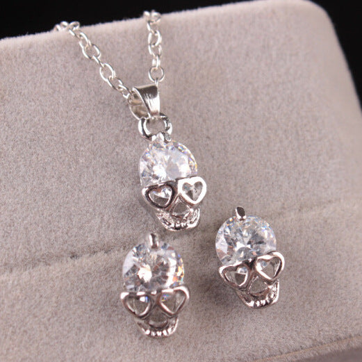 Crystal skull pendant necklaces and earrings jewelry set skull crystal skull pendant necklaces and earrings jewelry set aloadofball Choice Image