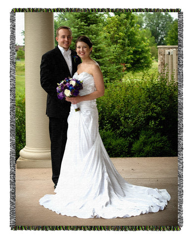 Wedding Day Photo Blanket