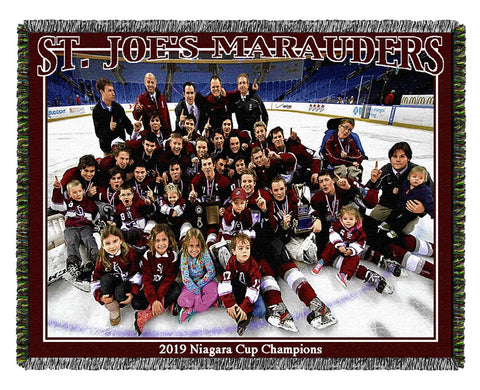 Hockey team photo blanket