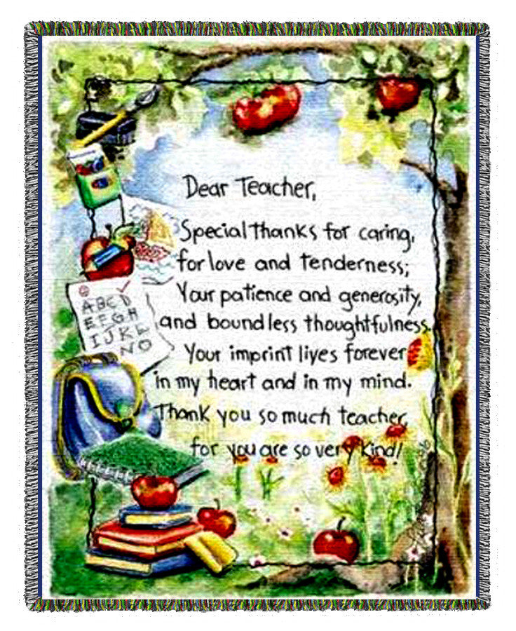 Dear Teacher Woven Blanket
