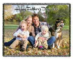 Father's Day Woven Blankets