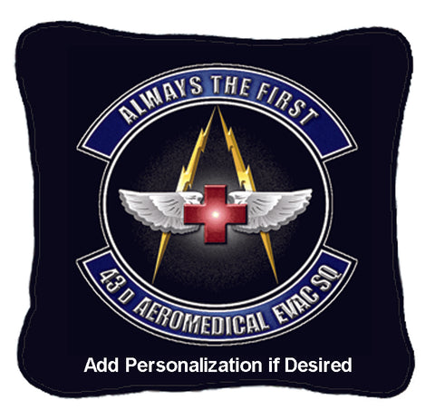 Military Insignia Woven Pillow