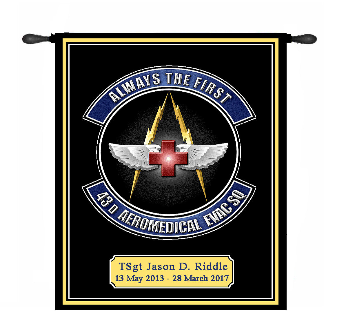 Military Insignia  or Logo Tapestry Wall Hangings (ReOrder of Previously Woven Design)