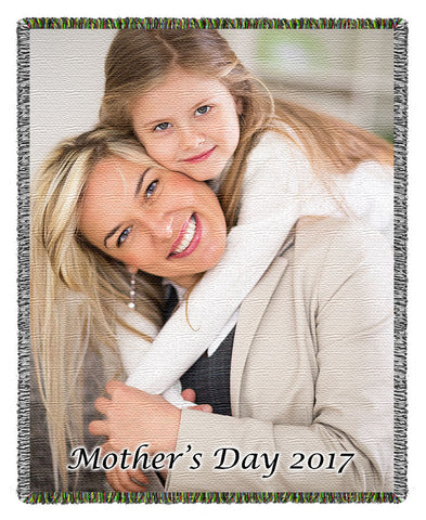 Mothers Day Woven Blanket Gift Card