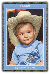Woven Photo Blanket Certificate