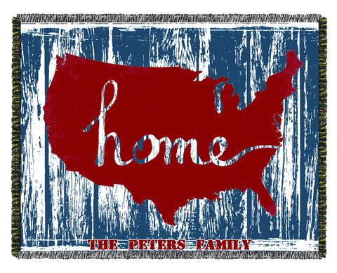 4th of July/ Patriotic Woven Blankets