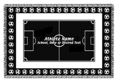 Personalized Sports Woven Blankets