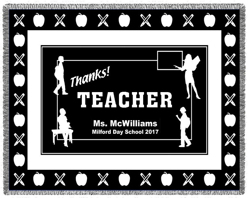 THANKS! Teacher Woven Blanket