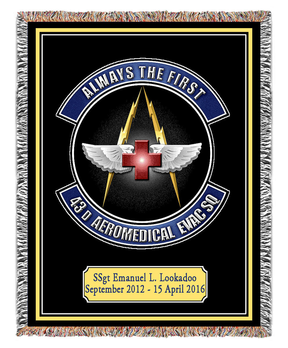 Military Insignia Woven Blankets