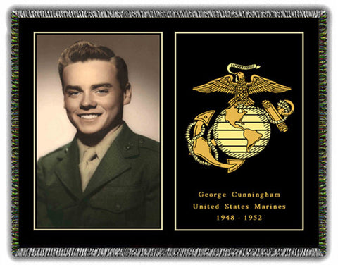 Military Honors Woven Photo Blankets