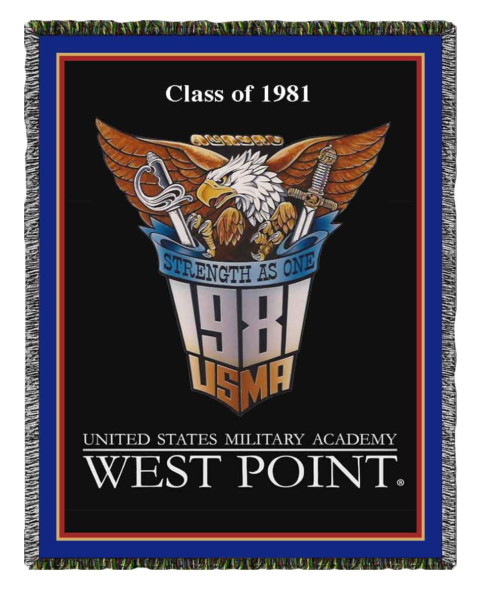 West Point Class of '81 Woven Blanket