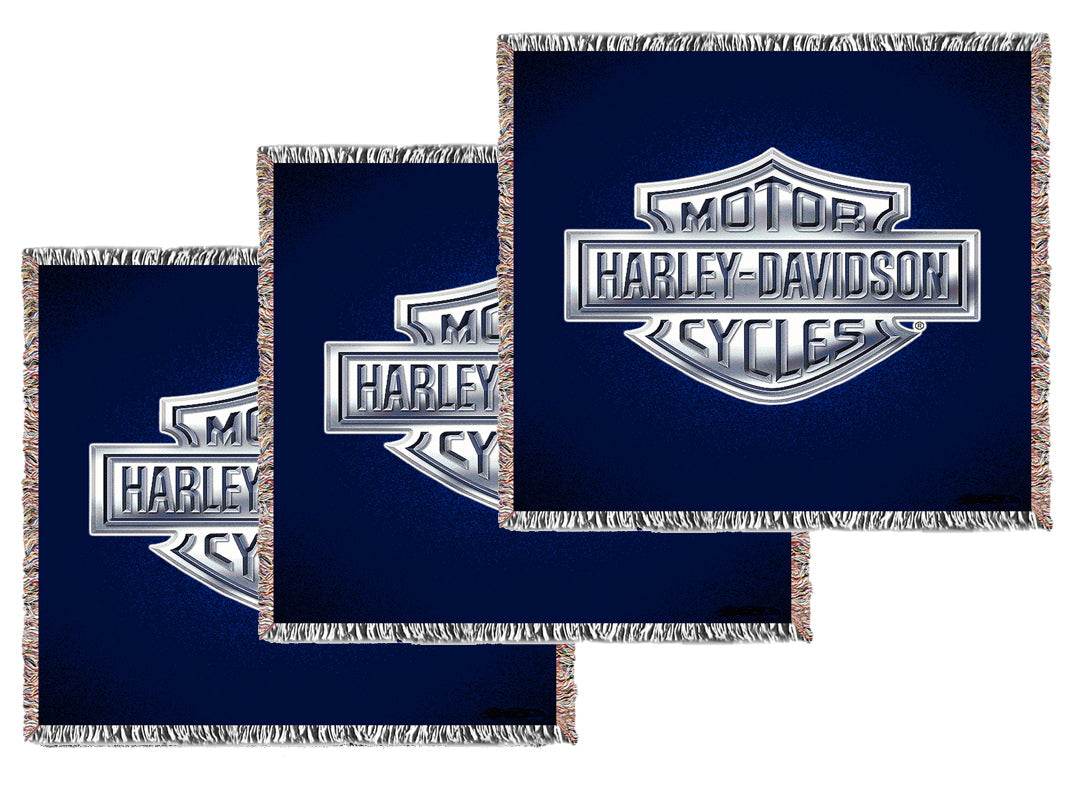 Medium Logo/Business Woven Blankets - Volume Discounts