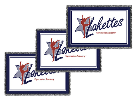 Small Logo/Business Woven Blankets - Volume Discounts