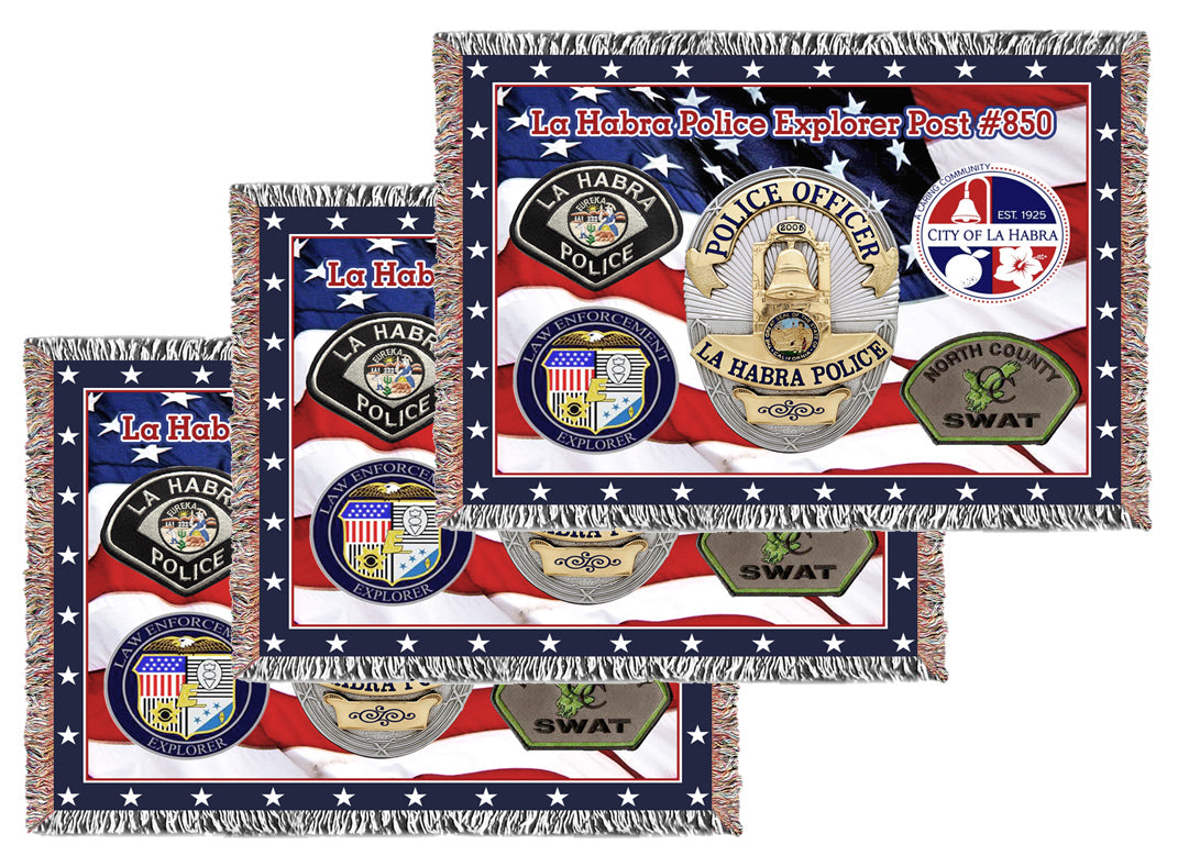 Extra Large Logo/Business Woven Blankets - Volume Discounts