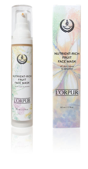 L'orpur Nutrient-Rich Fruit Face Mask (All Skin Types & Sensitive, 1.7oz / 50ml)