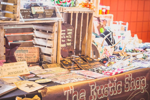 Craft fair booth with DIY gifts
