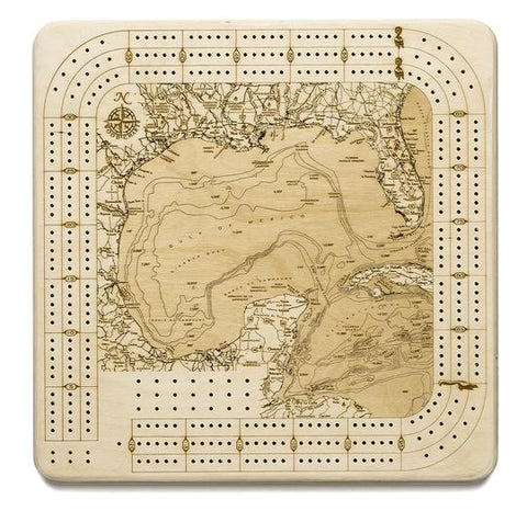 Gulf of Mexico Cribbage Board
