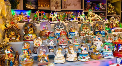 Hand crafted snow globes