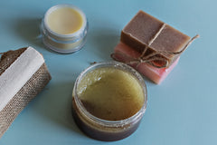 sugar scrub and other homemade spa products