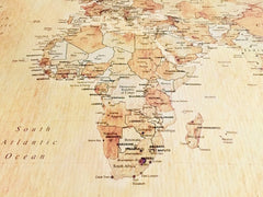 South African cartography map