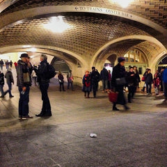 Whispering gallery in New York, high curved walls in train station