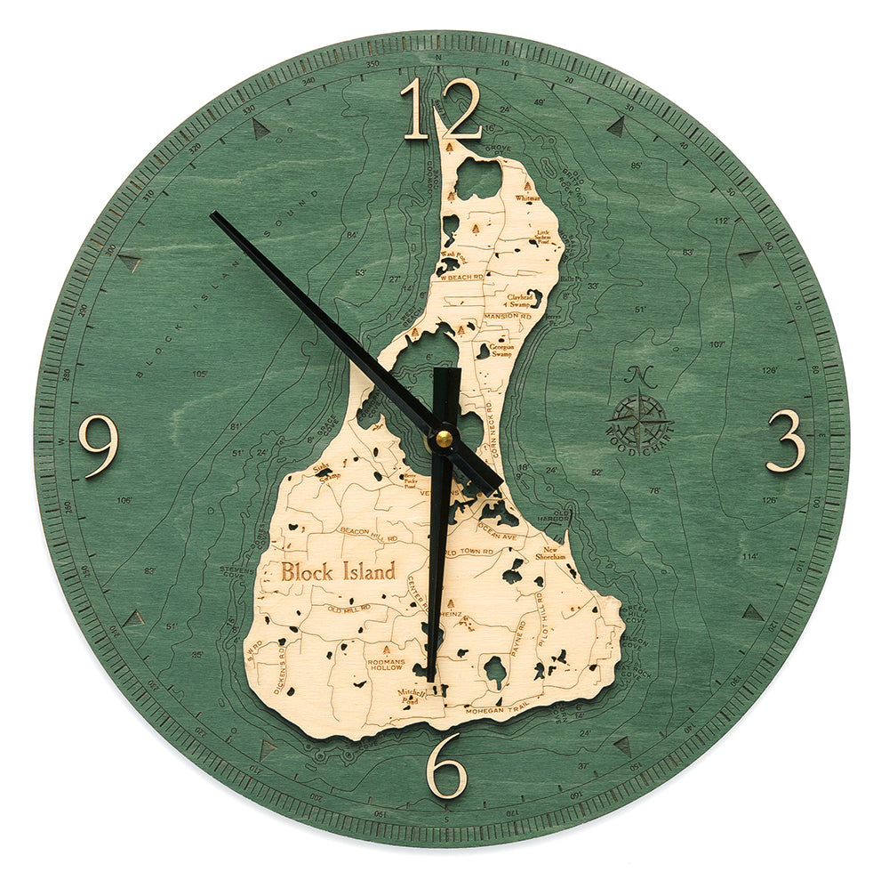 "Block Island Clock, 12"" Diameter"