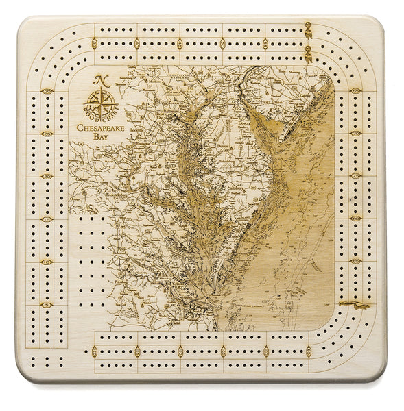 Chesapeake Bay Cribbage Board