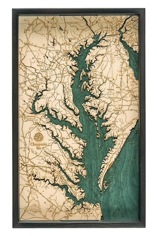 "Chesapeake Bay Serving Tray 20"" X 13"""