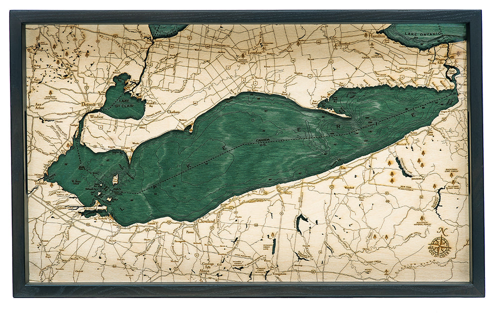 "Lake Erie Serving Tray 20"" X 13"""