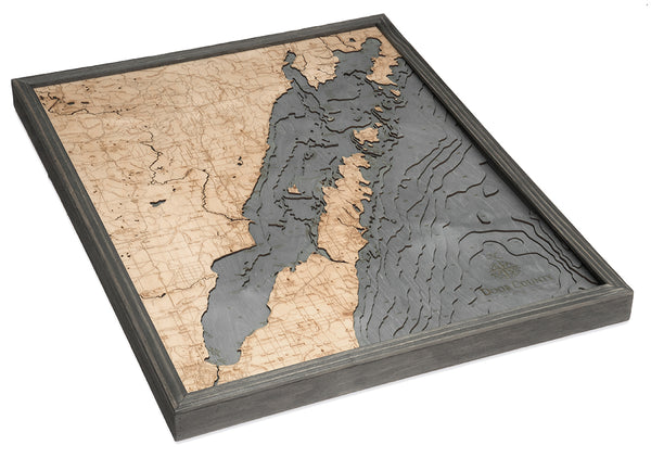 "Green Bay / Door County, Wisconsin 3-D Nautical Wood Chart, Large, 24.5"" x 31"""